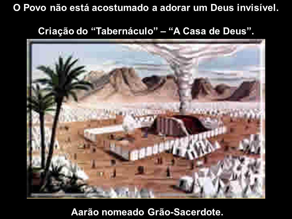 O Povo não está acostumado a adorar um Deus invisível. Criação do Tabernáculo – A Casa de Deus. Aarão nomeado Grão-Sacerdote.
