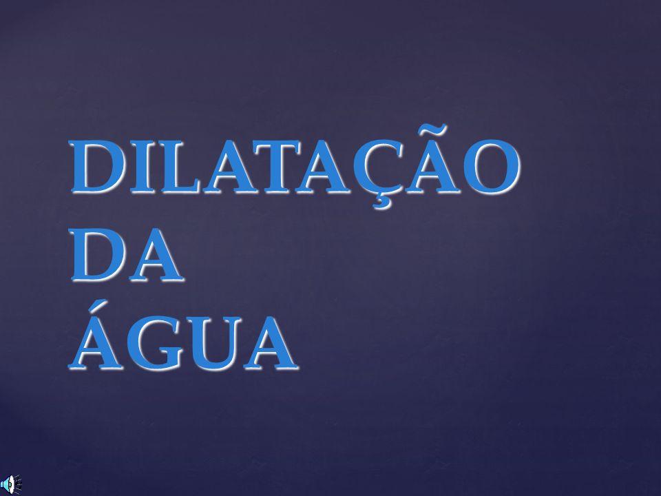 DILATAÇÃO DA ÁGUA