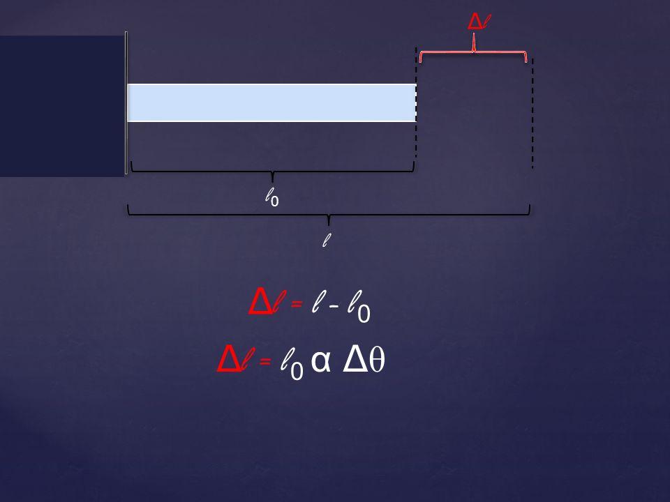 l0l0 l ΔlΔl Δ l = l 0 α Δ θ Δ l = l - l 0