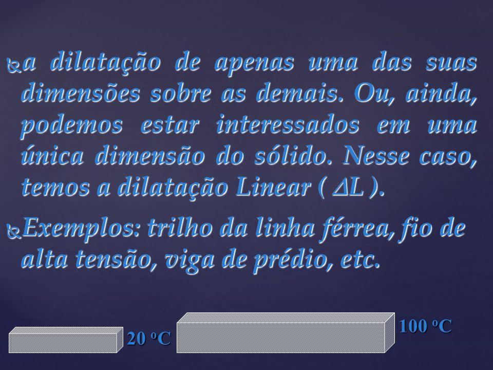 Δ l A = l 0A α A Δ θ A 4 = 100.α A.100 α A = 4.10 -4 ºC -1 Δ l B = l 0B α B Δ θ B 2 = 100.