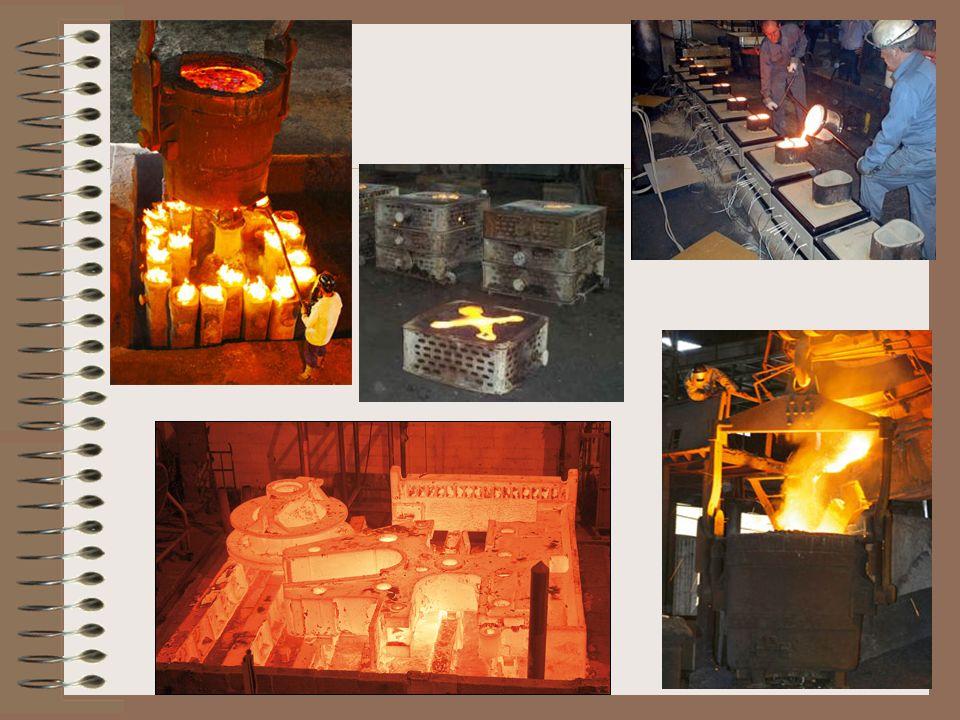 Peças fabricadas A indústria automobilística utiliza uma grande quantidade de peças fundidas sob pressão: tampas de válvulas, fechaduras, carcaças de motor de arranque, maçanetas, caixas de câmbio de máquinas agrícolas.