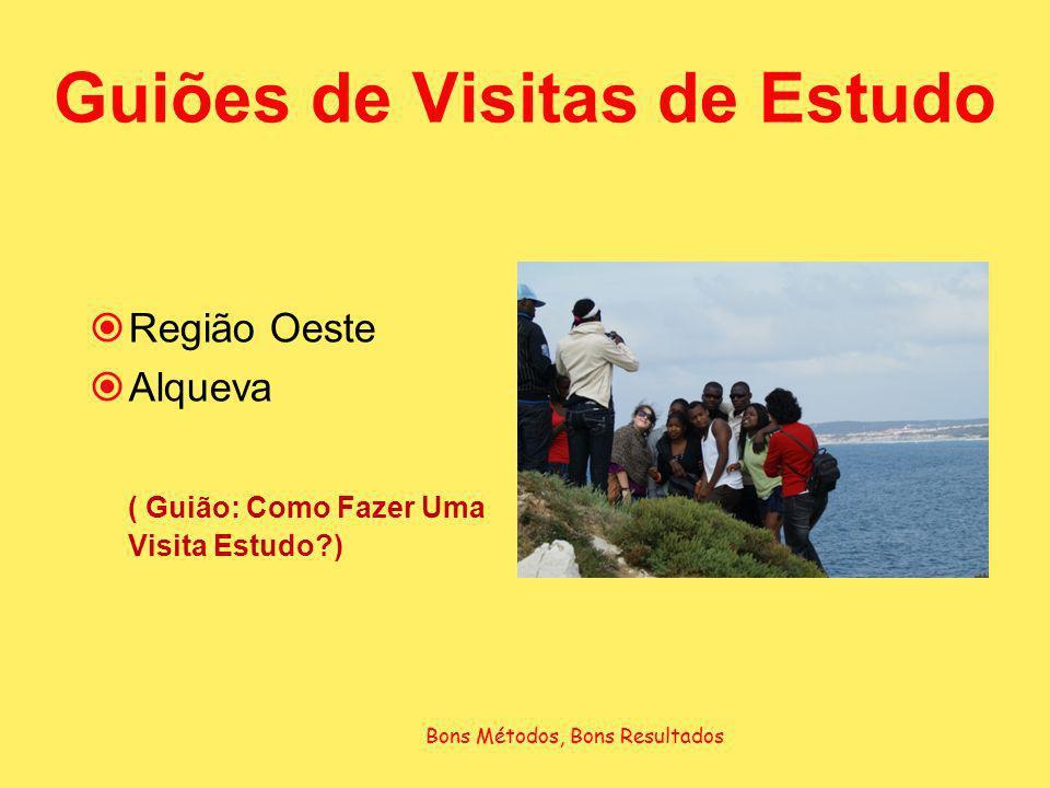 Guiões de Visitas de Estudo Região Oeste Alqueva ( Guião: Como Fazer Uma Visita Estudo?) Bons Métodos, Bons Resultados