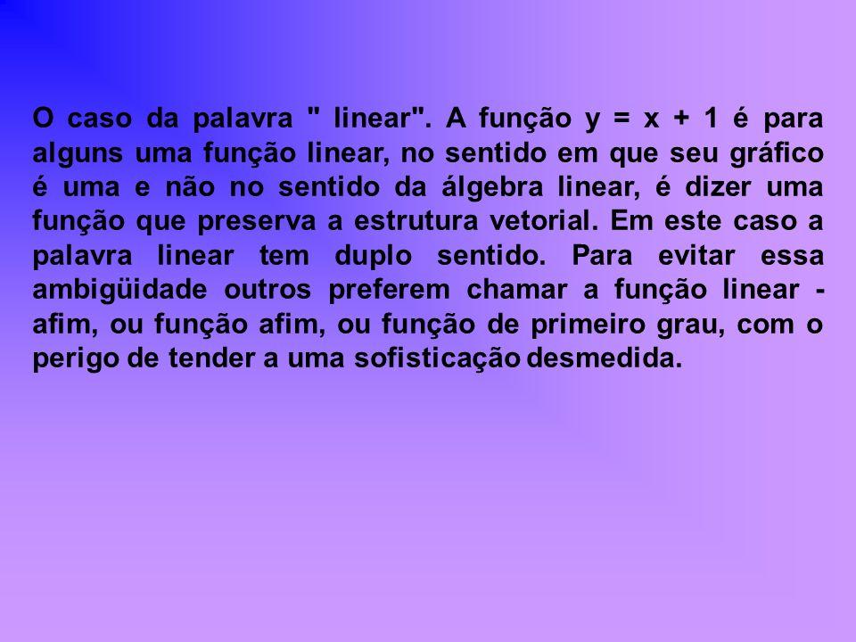 FUNÇÃO CONSTANTE Uma função é dita constante quando é do tipo f(x) = k, onde k não depende de x.