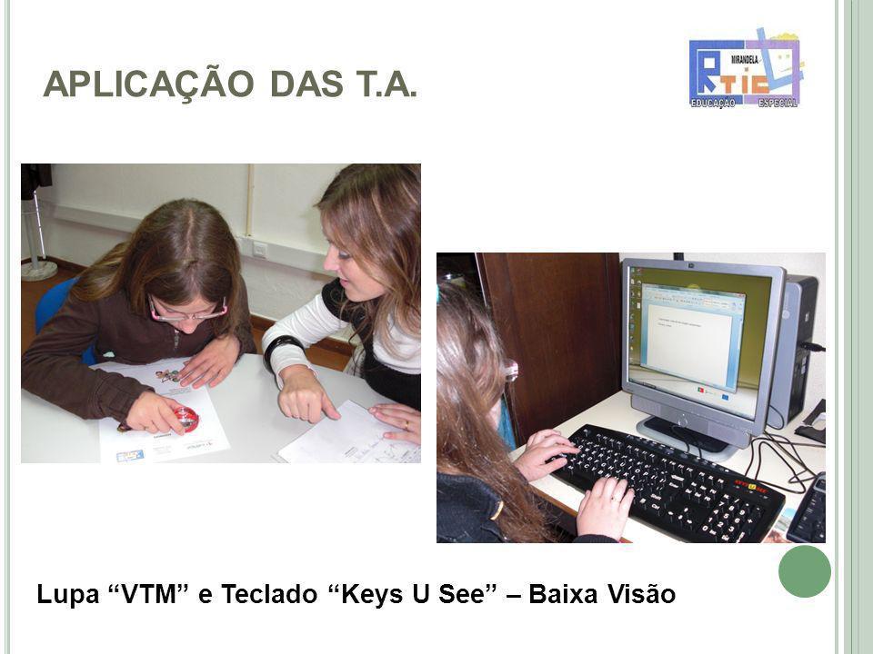 APLICAÇÃO DAS T.A. Lupa VTM e Teclado Keys U See – Baixa Visão