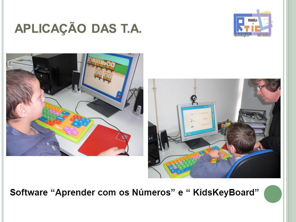 APLICAÇÃO DAS T.A. Software Aprender com os Números e KidsKeyBoard