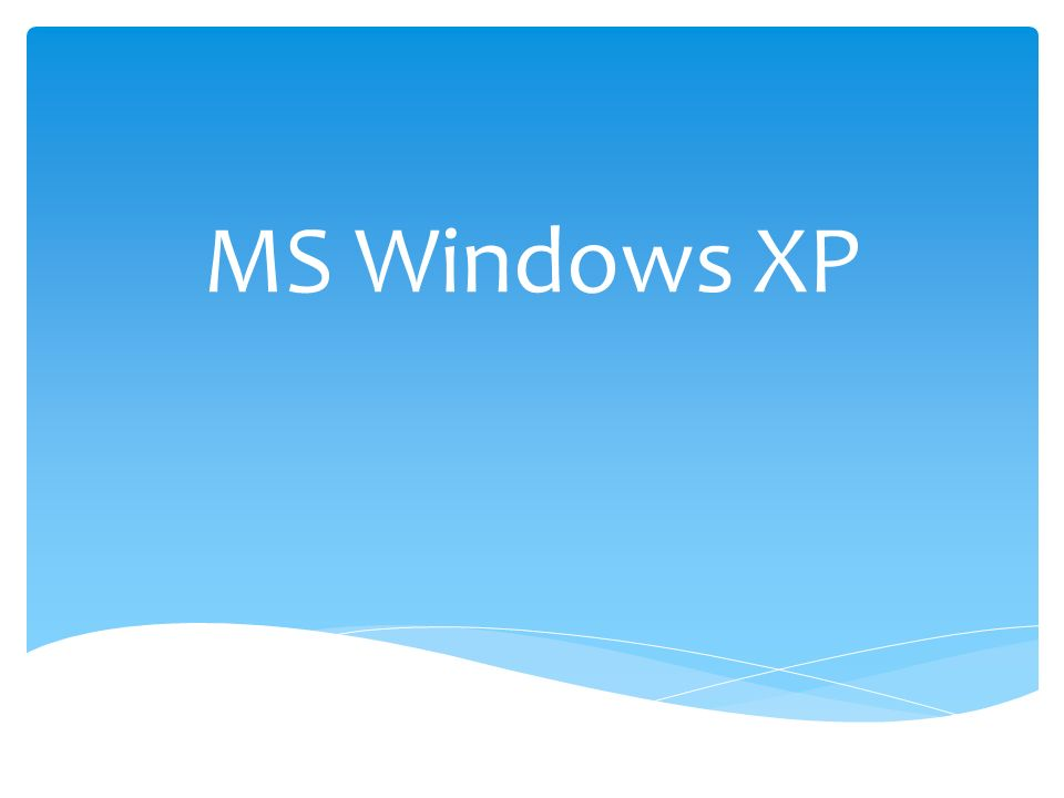 MS Windows XP
