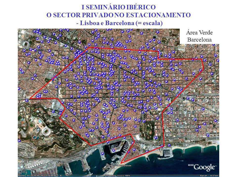 I SEMINÁRIO IBÉRICO O SECTOR PRIVADO NO ESTACIONAMENTO - LISBOA - Tomando como exemplo a área das Avenidas Novas