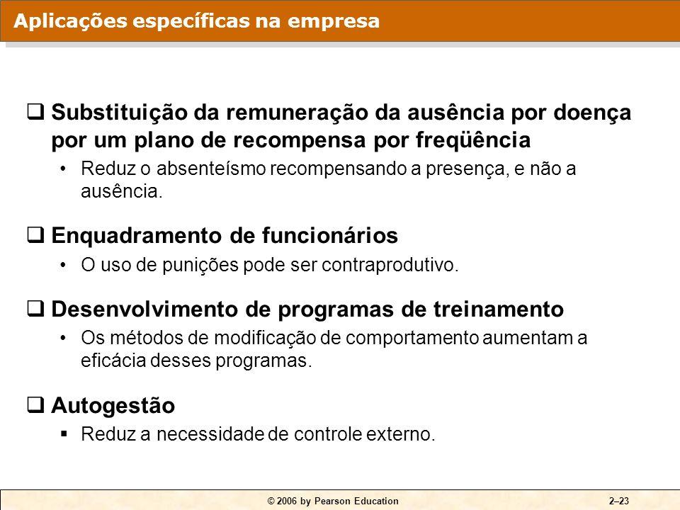 © 2006 by Pearson Education2–22 Modelo de resolução de problemas em cinco passos: 1.Identificação dos comportamentos críticos. 2.Desenvolvimento dos d