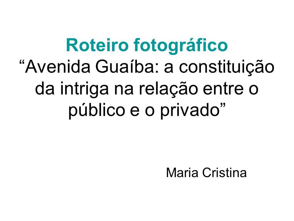 Roteiro fotográfico Avenida Guaíba: a constituição da intriga na relação entre o público e o privado Maria Cristina