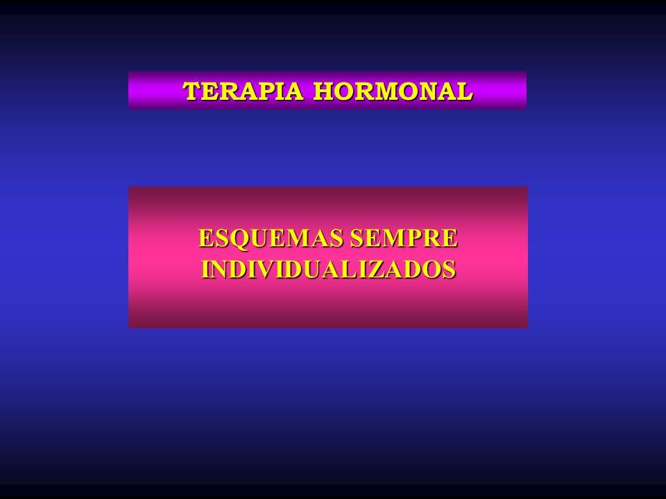 ESQUEMAS SEMPRE INDIVIDUALIZADOS TERAPIA HORMONAL