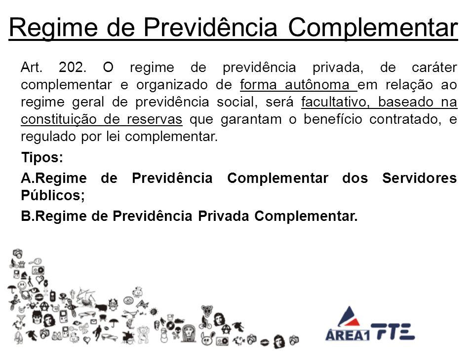 Regime de Previdência Complementar Art.202.