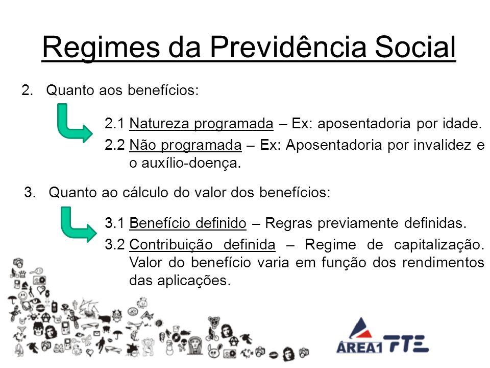 Regime de Previdência Complementar Previdência Complementar Aberta – BB Previ, Itaú Previdência, etc.