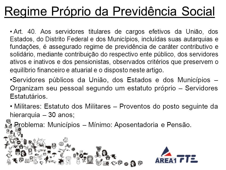 Regime Próprio da Previdência Social Art.40.