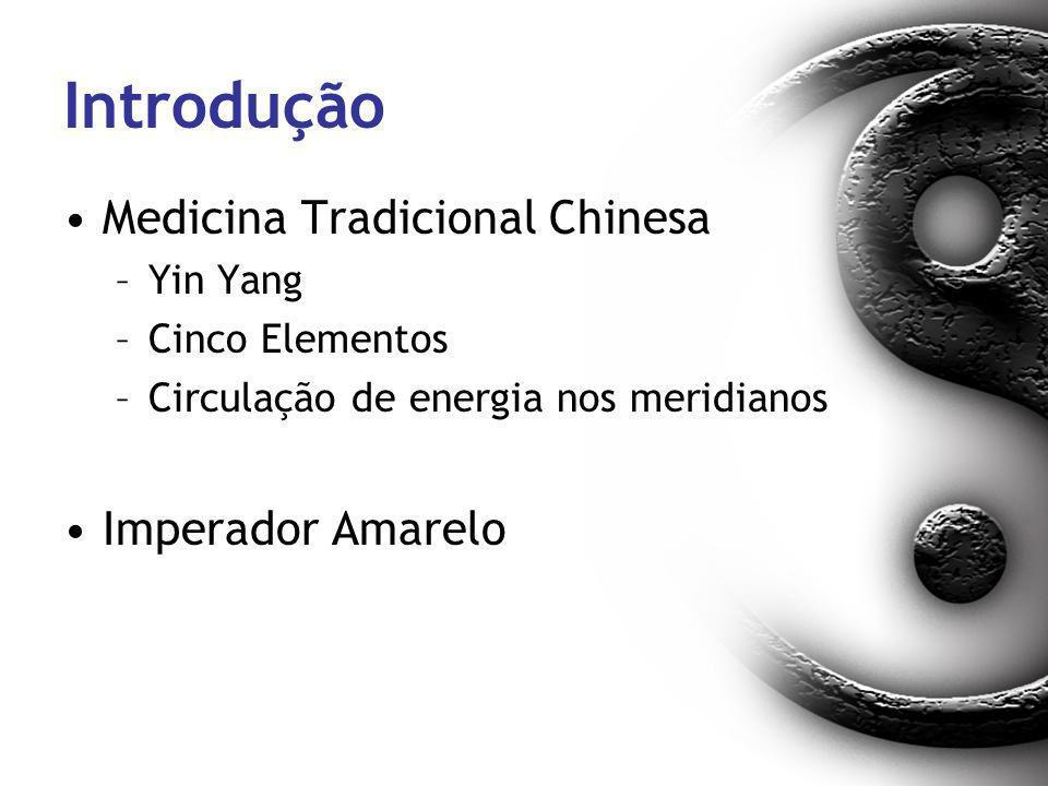 Introdução Medicina Tradicional Chinesa –Yin Yang –Cinco Elementos –Circulação de energia nos meridianos Imperador Amarelo