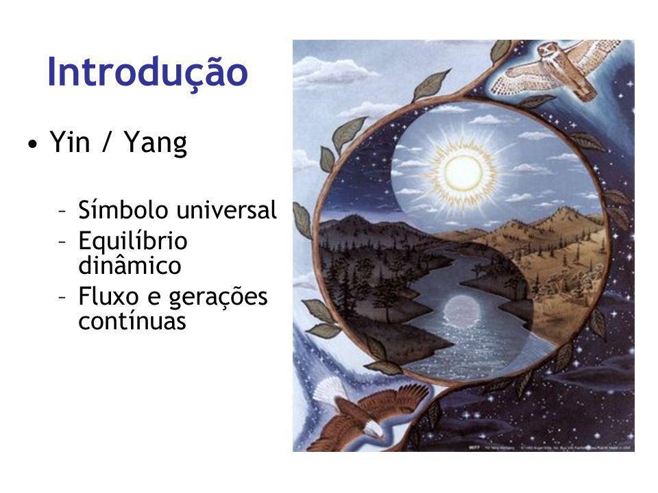 Introdução Yin / Yang –Símbolo universal –Equilíbrio dinâmico –Fluxo e gerações contínuas