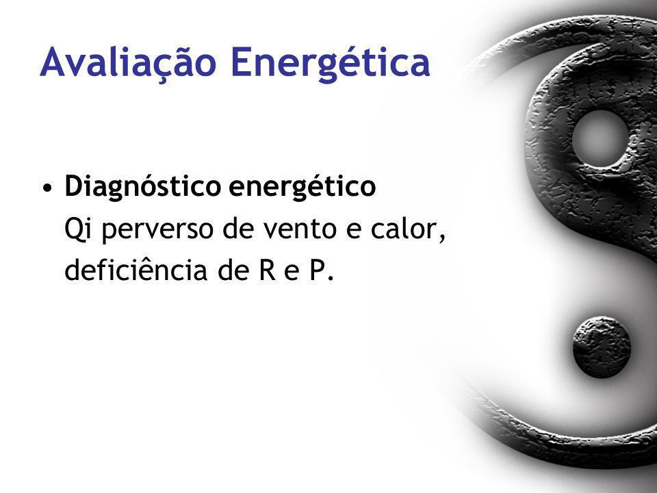 Avaliação Energética Diagnóstico energético Qi perverso de vento e calor, deficiência de R e P.