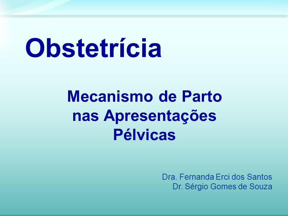 Mecanismo de Parto nas Apresentações Pélvicas Obstetrícia Dra. Fernanda Erci dos Santos Dr. Sérgio Gomes de Souza