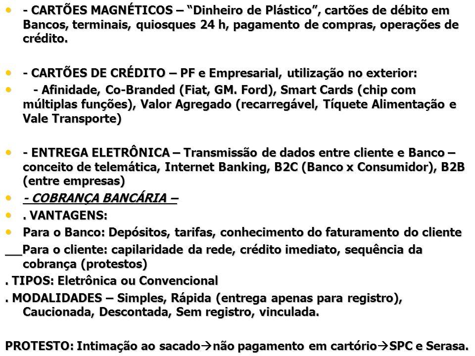OPERAÇÕES DE CRÉDITO BANCÁRIO - CDC – Crédito Direto ao Consumidor – - CDC – Crédito Direto ao Consumidor –.