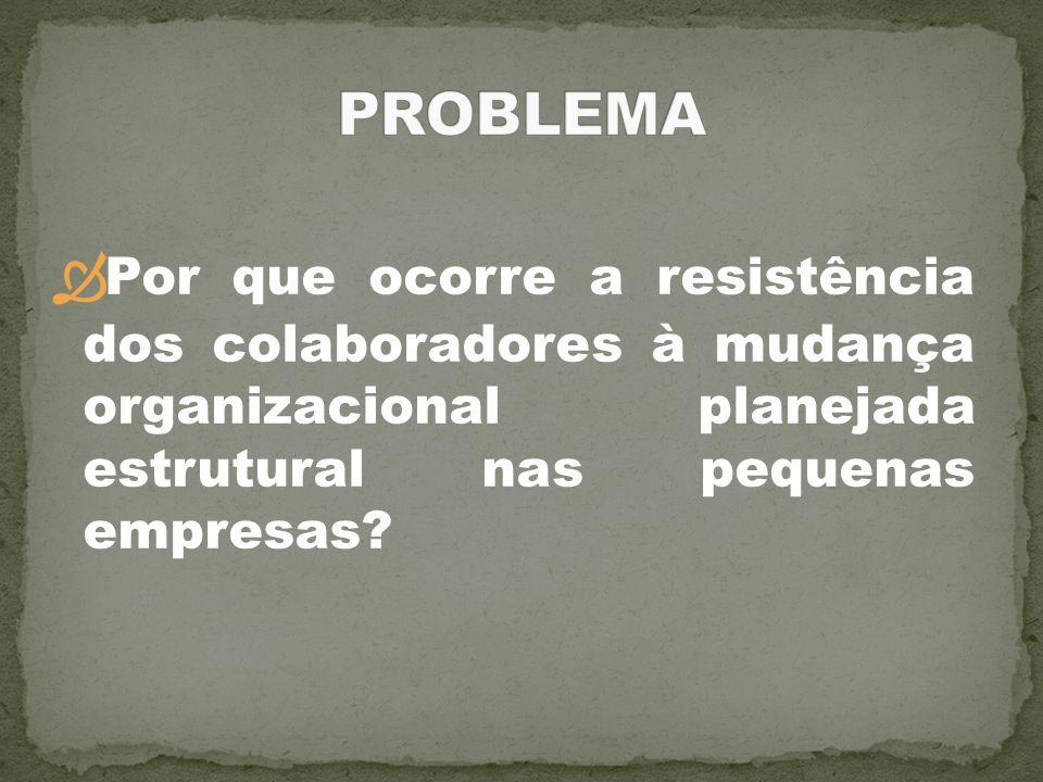 Por que ocorre a resistência dos colaboradores à mudança organizacional planejada estrutural nas pequenas empresas?
