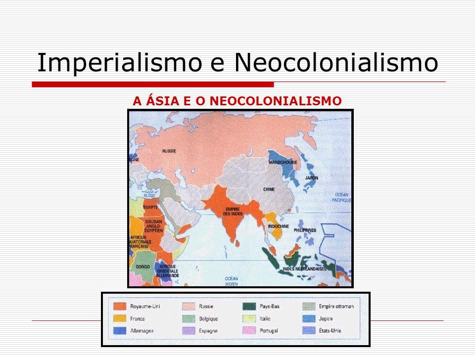 Imperialismo e Neocolonialismo A POLÍTICA DO BIG STICK: -A América não é dos americanos.