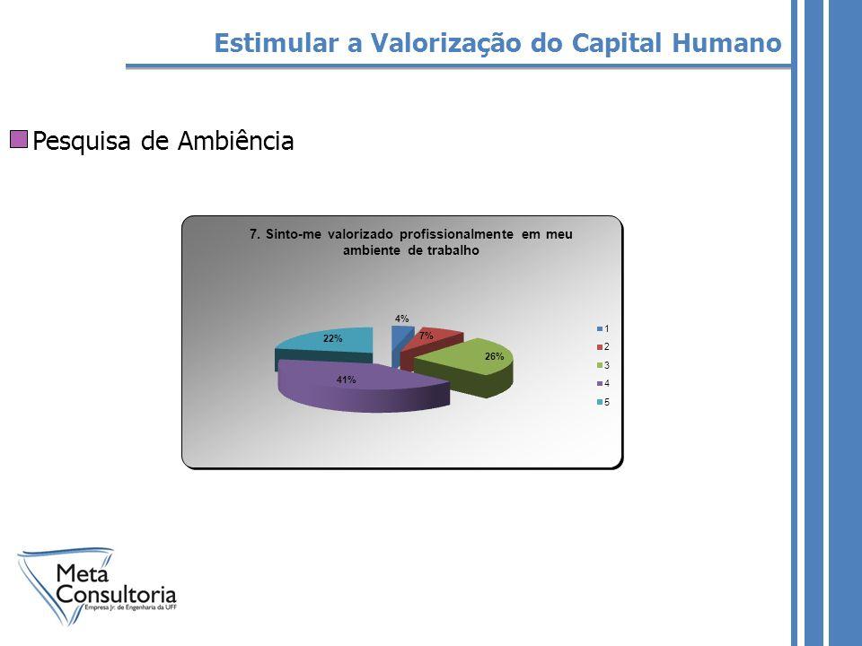 Pesquisa de Ambiência Estimular a Valorização do Capital Humano