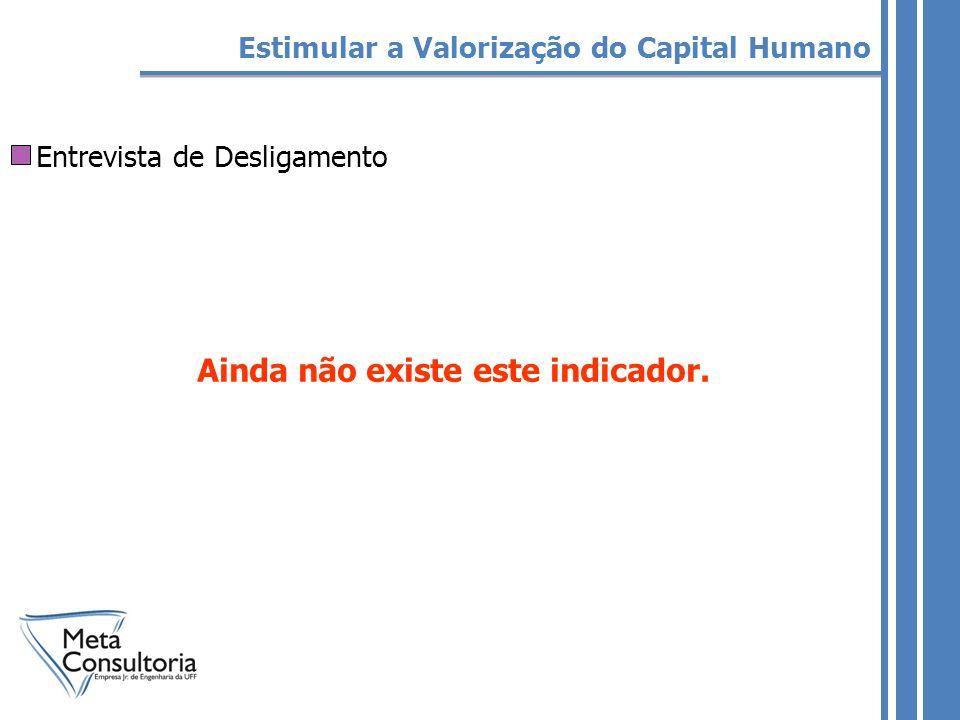 Entrevista de Desligamento Estimular a Valorização do Capital Humano Ainda não existe este indicador.