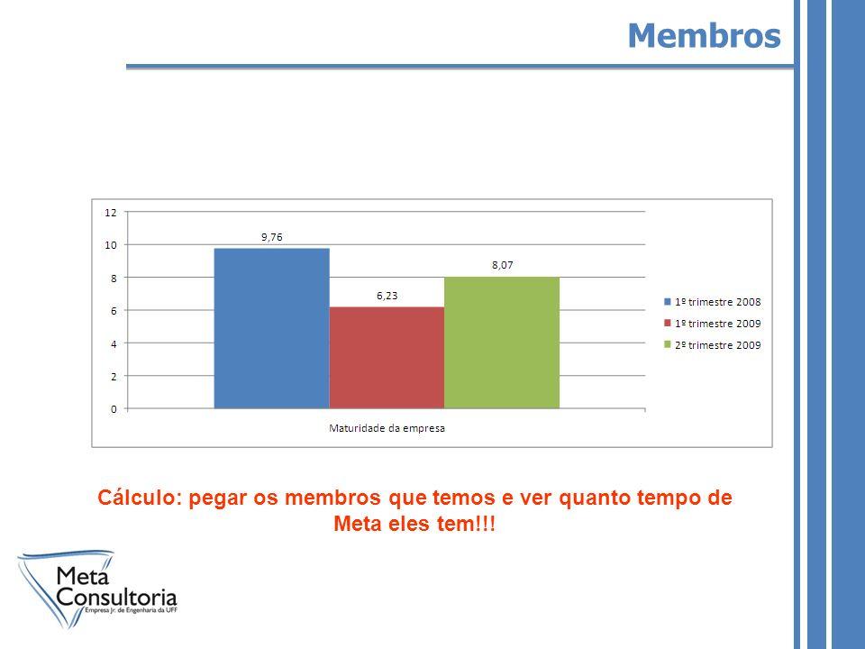 Membros Cálculo: pegar os membros que temos e ver quanto tempo de Meta eles tem!!!