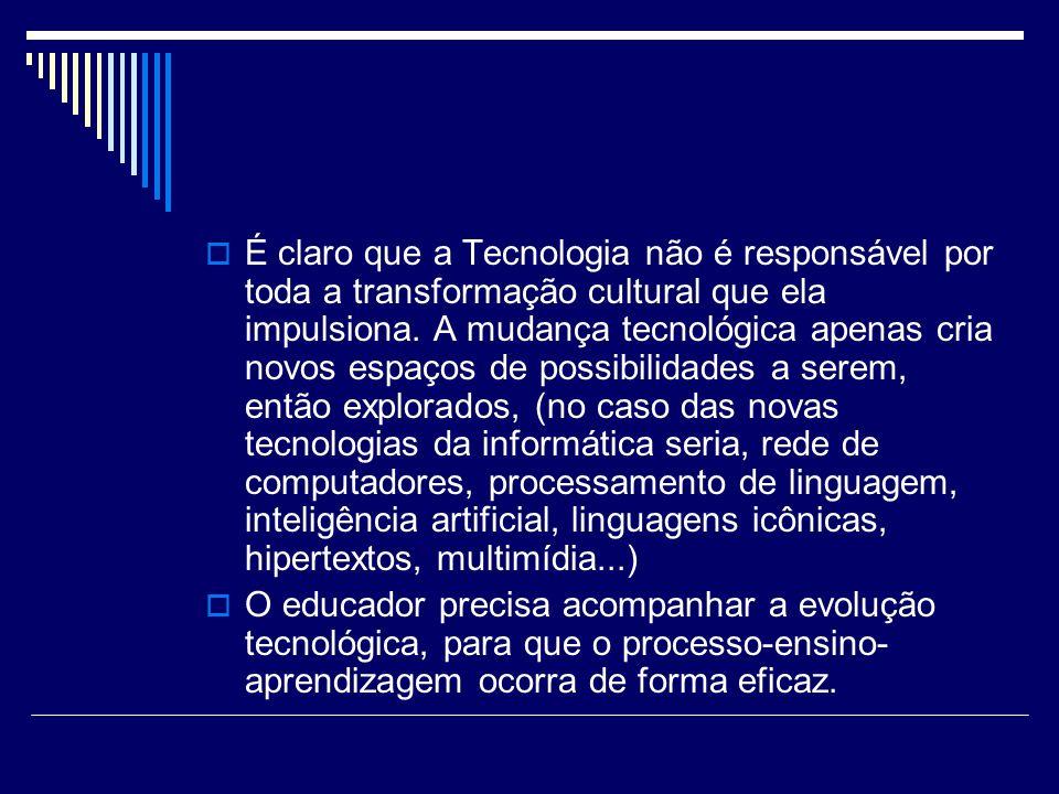 É claro que a Tecnologia não é responsável por toda a transformação cultural que ela impulsiona. A mudança tecnológica apenas cria novos espaços de po