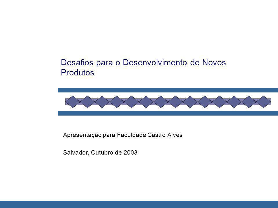 Desafios para o Desenvolvimento de Novos Produtos Apresentação para Faculdade Castro Alves Salvador, Outubro de 2003