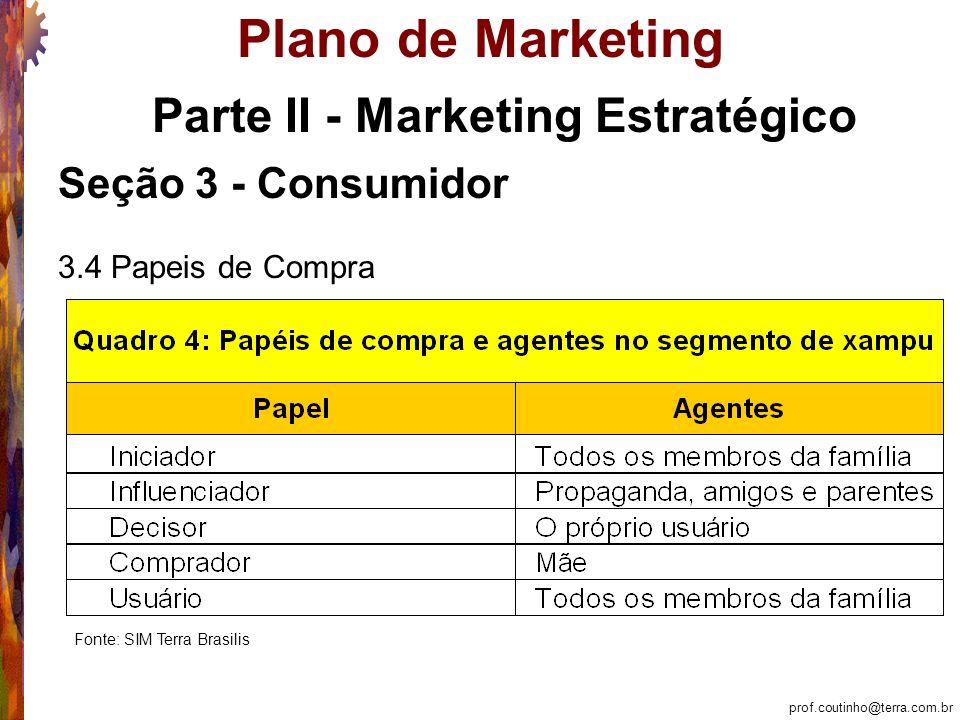 prof.coutinho@terra.com.br Plano de Marketing Ação e Controle: Seção 12 – Análise de Equilíbrio O quadro pende positivamente para o sucesso do Nature´s Silk.