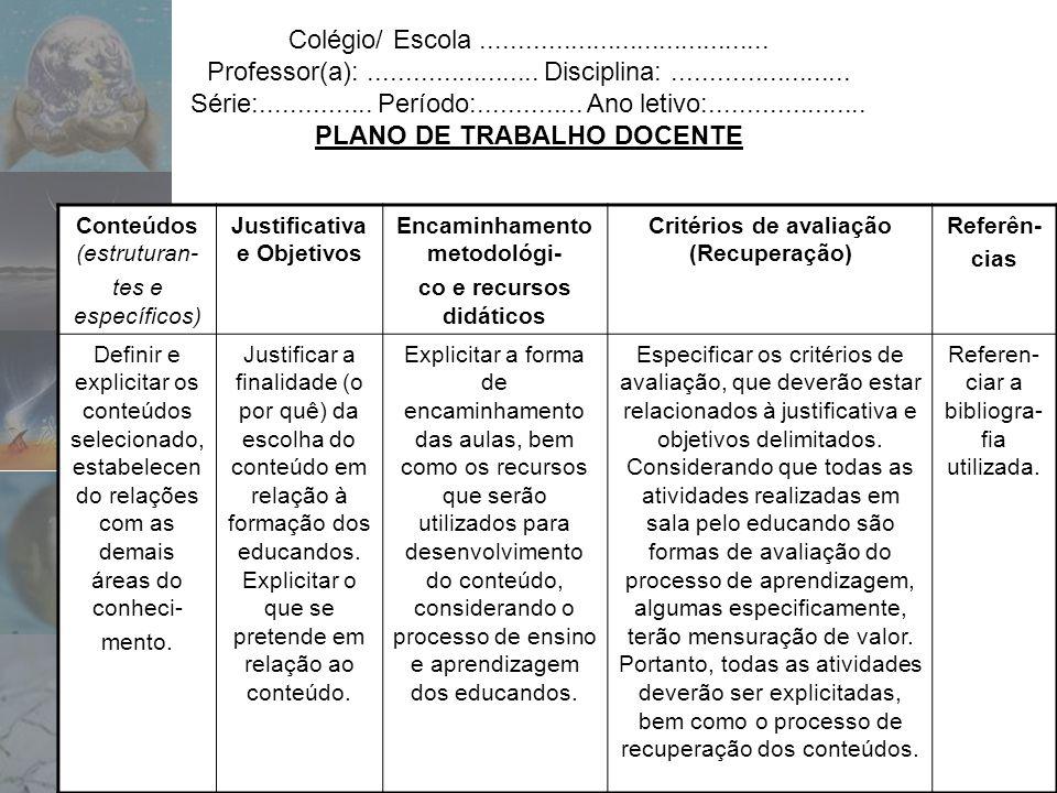 Colégio/ Escola.......................................