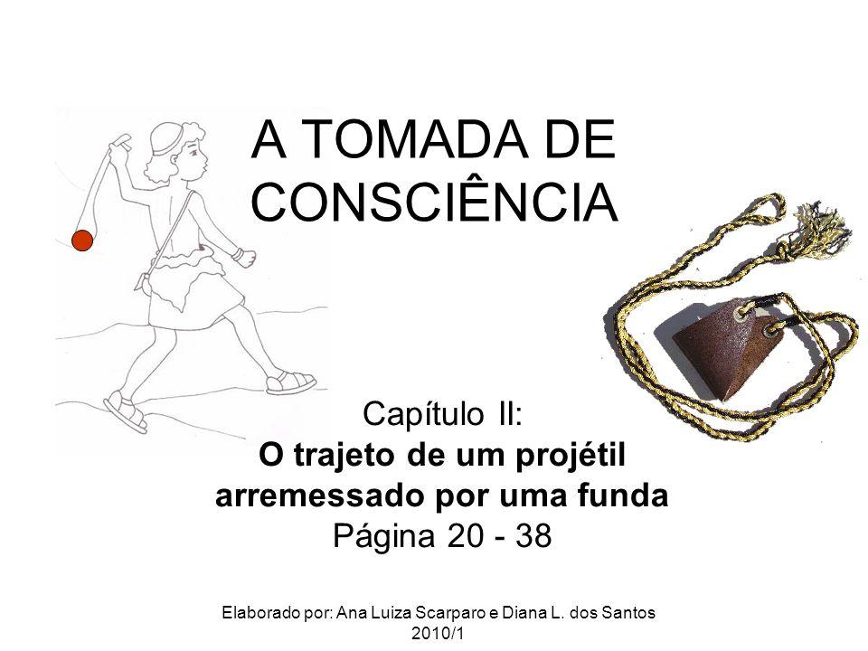 A TOMADA DE CONSCIÊNCIA Capítulo II: O trajeto de um projétil arremessado por uma funda Página 20 - 38 Elaborado por: Ana Luiza Scarparo e Diana L.