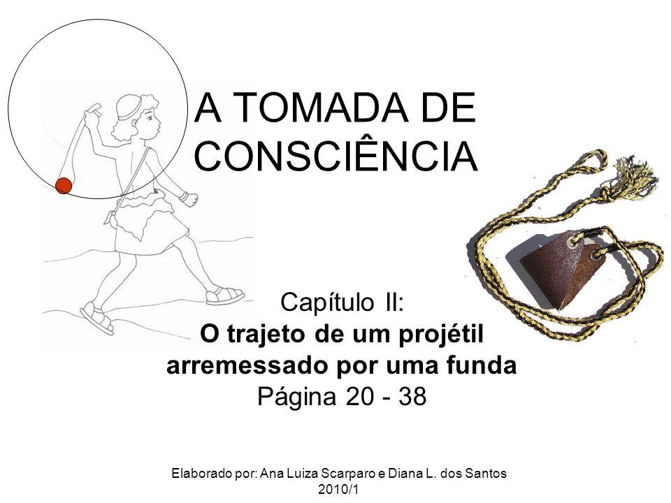 A TOMADA DE CONSCIÊNCIA Capítulo II: O trajeto de um projétil arremessado por uma funda Página 20 - 38 Elaborado por: Ana Luiza Scarparo e Diana L. do