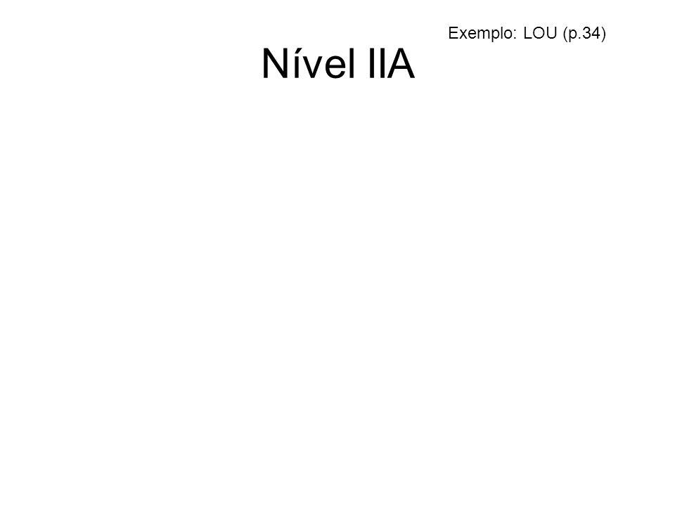 Nível IIA Exemplo: LOU (p.34)