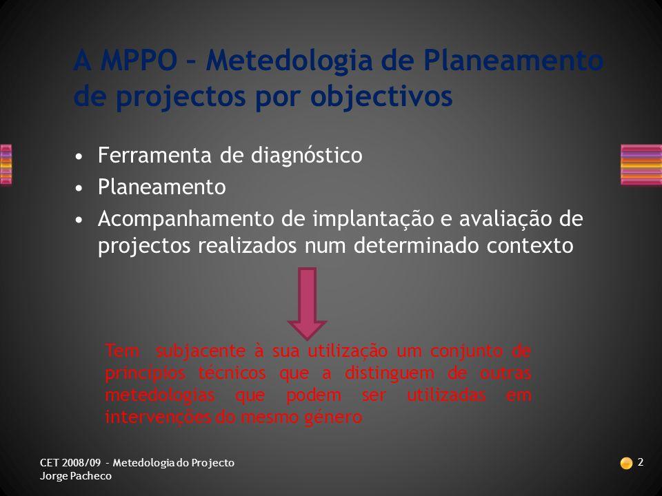 CET: Instalação e Manutenção de Redes e Sistemas Informáticos Gouveia 2008/09 Jorge Pacheco 1 CET 2008/09 - Metedologia do Projecto Jorge Pacheco