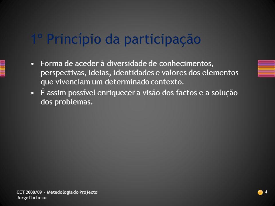 Princípios balizadores da utilização da MPPO 3 CET 2008/09 - Metedologia do Projecto Jorge Pacheco