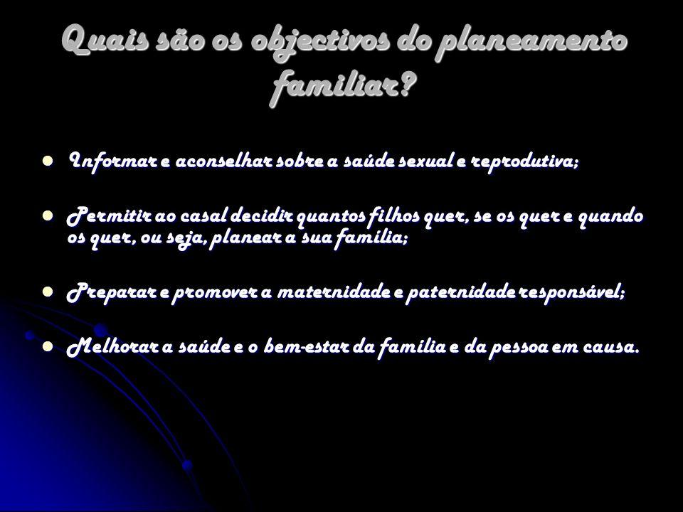 O que é uma consulta de planeamento familiar.