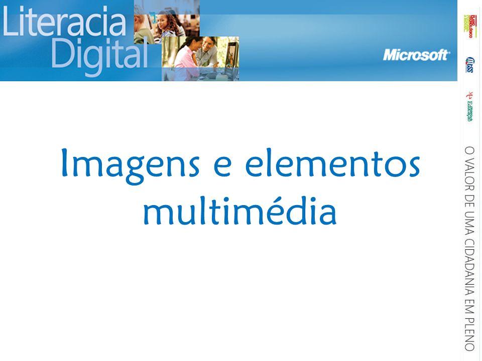 Imagens e elementos multimédia