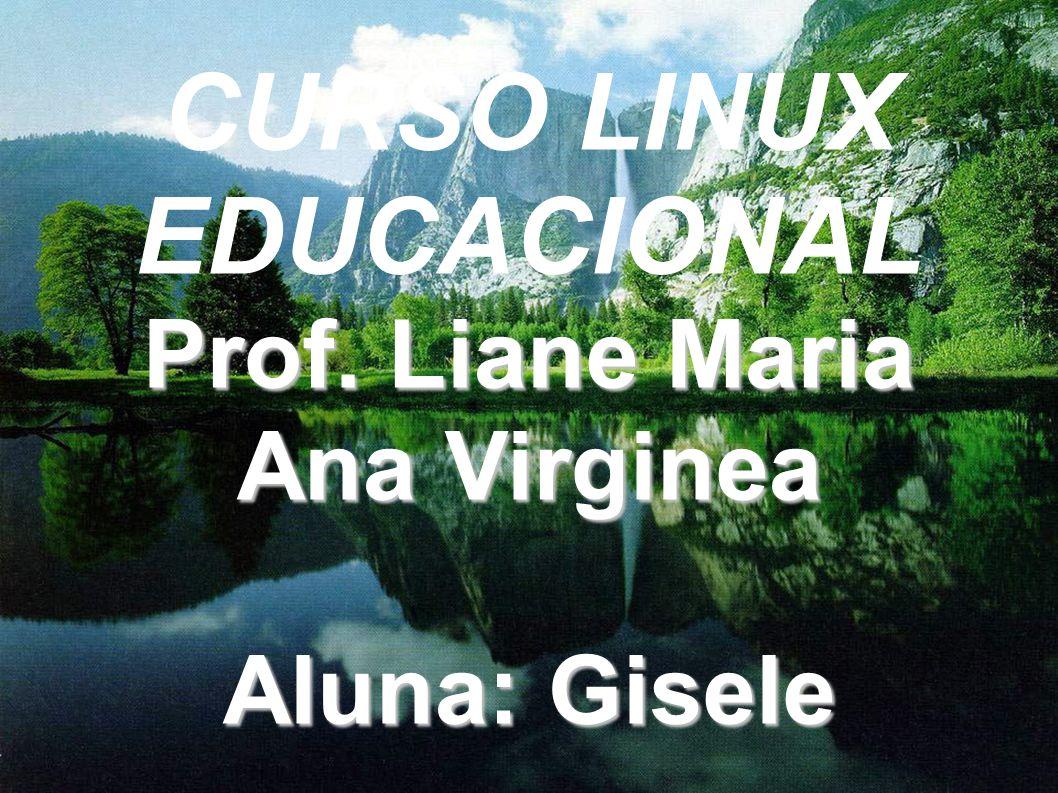 CURSO LINUX EDUCACIONAL Prof. Liane Maria Ana Virginea Aluna: Gisele