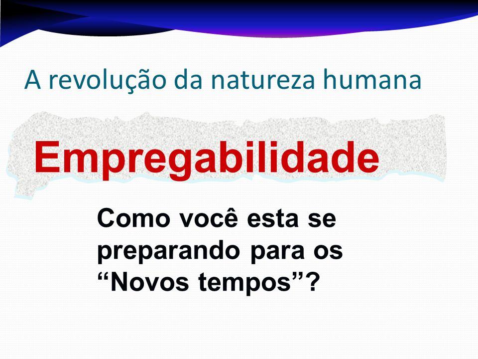 A revolução da natureza humana Empregabilidade Como você esta se preparando para os Novos tempos?