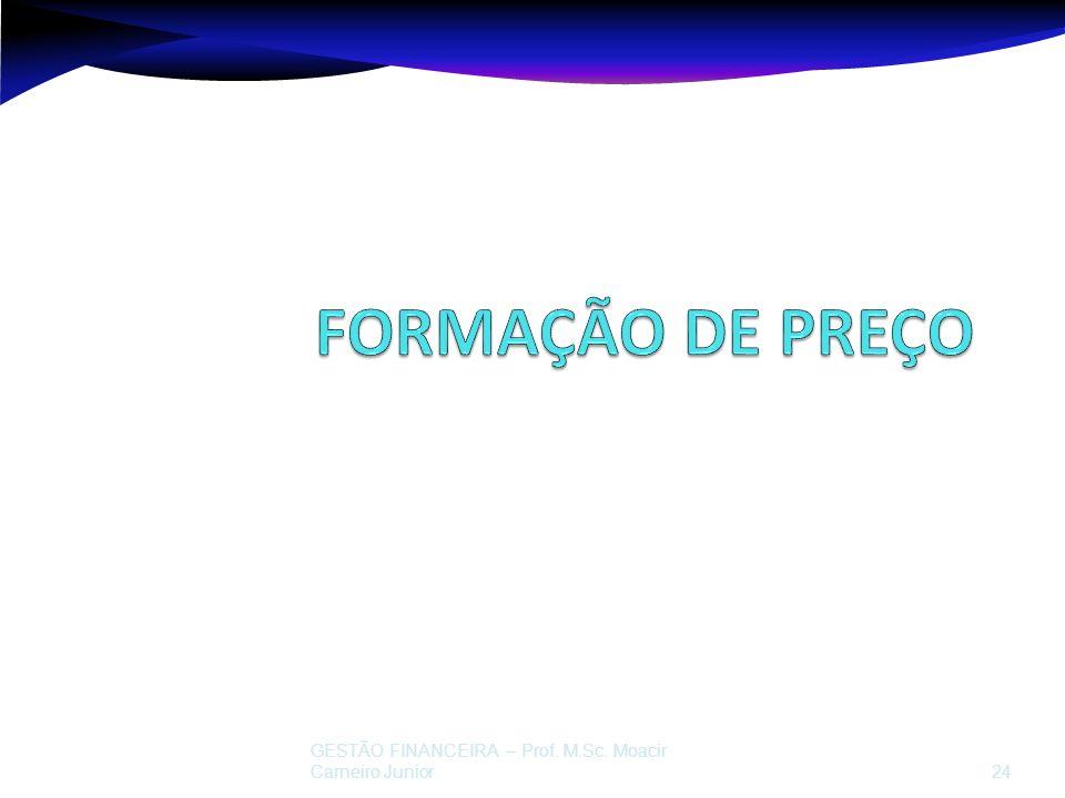GESTÃO FINANCEIRA – Prof. M.Sc. Moacir Carneiro Junior 24 Prof. Moacir Carneiro Junior