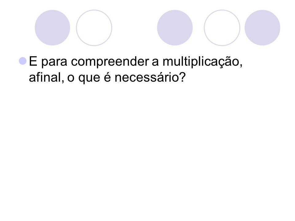 E para compreender a multiplicação, afinal, o que é necessário?