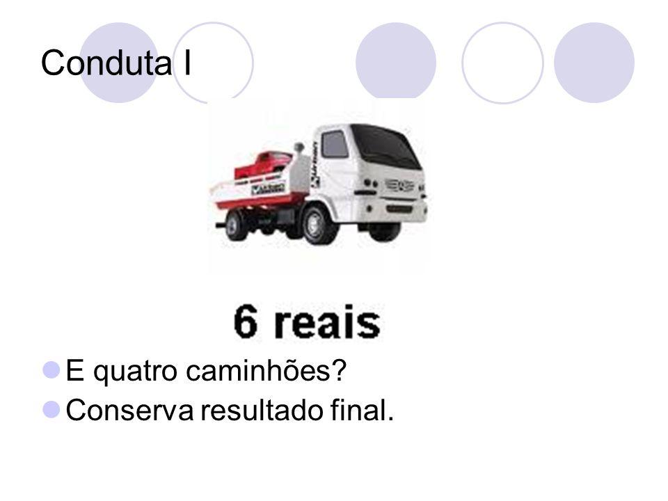 Conduta I E quatro caminhões? Conserva resultado final.