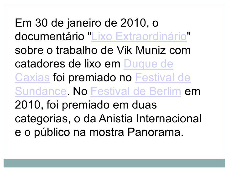 Em 30 de janeiro de 2010, o documentário