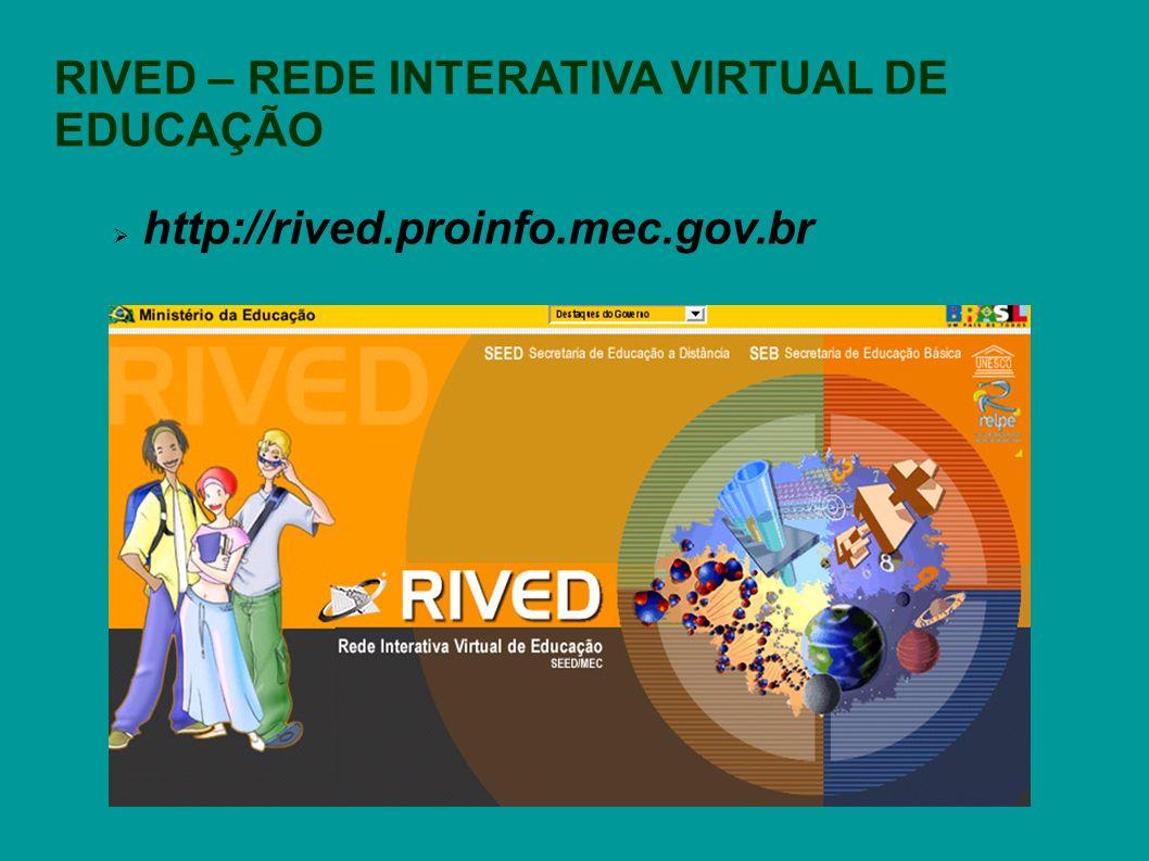 RIVED – REDE INTERATIVA VIRTUAL DE EDUCAÇÃO http://rived.proinfo.mec.gov.br