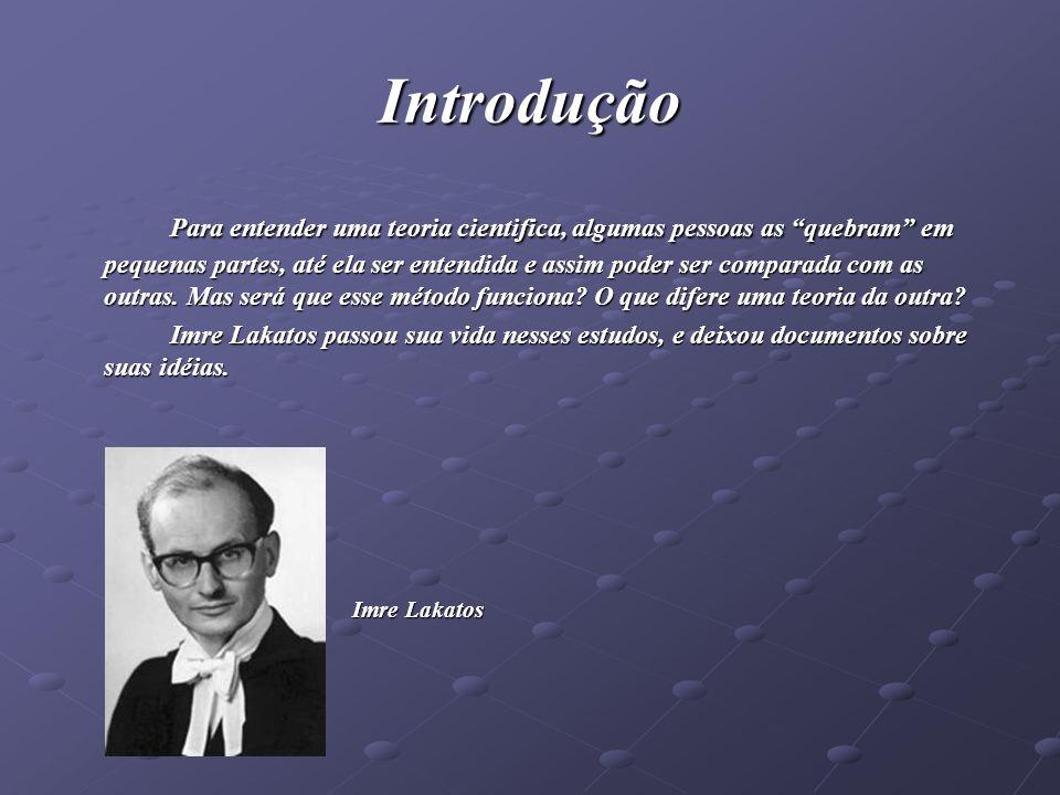 Vida de Imre Lakatos Emir Lipschitz Lakatos nasceu na Hungria, dedicou parte de sua vida aos estudos.