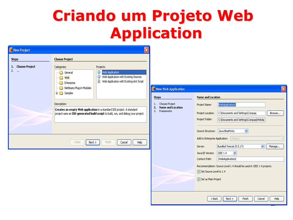 19 Criando um Projeto Web Application