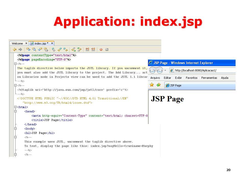 20 Application: index.jsp