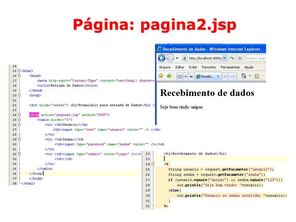30 Página: pagina2.jsp