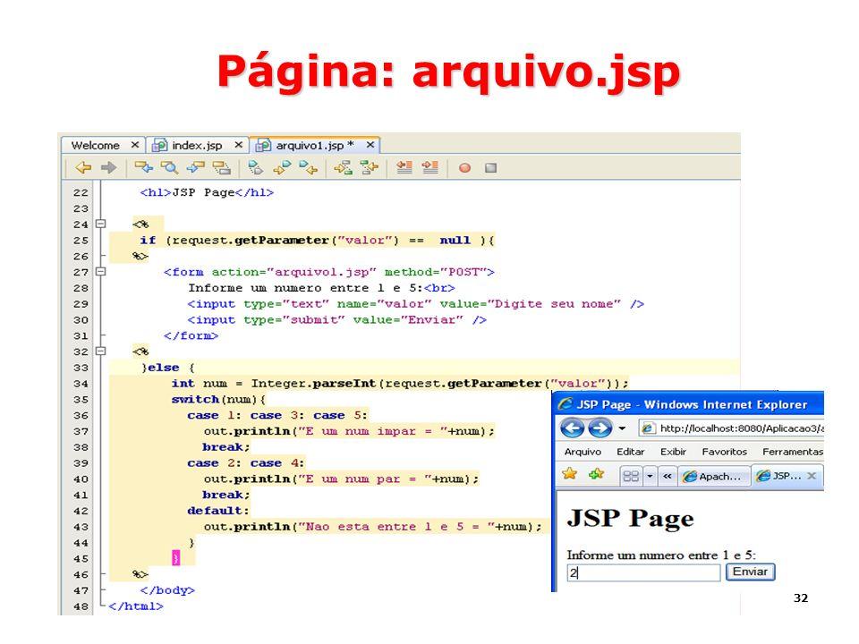 32 Página: arquivo.jsp